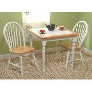 Piece White Dining Set Table Chairs Kitchen Home Furniture Free
