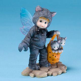 My Little Kitchen Fairies Black Kitty Fairie Figurine New 4028278