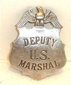 Deputy US Marshal Police Badge Sheriff Ranger Old West