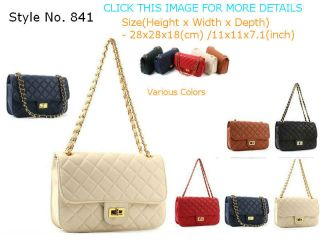 Handbag PU leather bags gold chain strap shoulder bag handbags 841