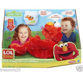 ELMO LAUGH OUT LOUD LOL Animated Laughing Kicking Elmo Doll Tickle