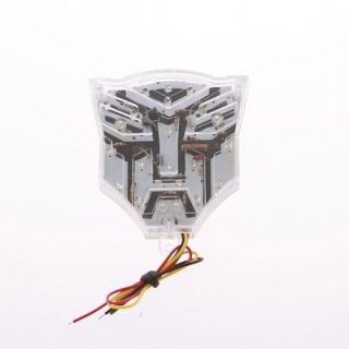 Transformer Autobots Logo Car Motorcycle Strobe Brake Flash Led Light