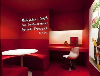 Make Jokes Laugh Love Live Life vinyl wall art decal sticker quote