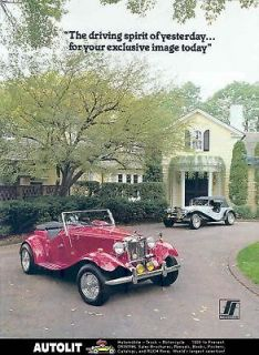1952 1985 Fiberfab MG TD MGTD Mercedes Kit Car Brochure
