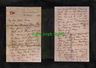 Letter By Passenger On Titanic White Star Line To Chicago 11th April