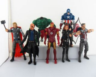 The Avengers figure Iron Man Captain America Hulk Thor Hawkeye#US