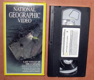 National Geographic   Last Voyage of the Lusitania (VHS, 1994)