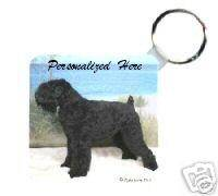 Black Russian Terrier Personalized Breed Key Chain