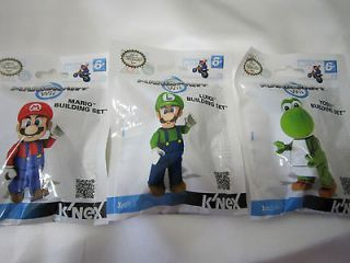 New Knex Nintendo Mario Kart Minifigure Set Pack of 3/Mario, Luigi