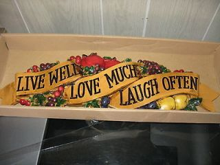 live well laugh often love much in Home Decor