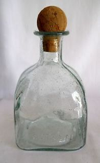 BOTTLE   PATRON TEQUILA SQUARE BOTTLE w/ROUND CORK and SPARKLES