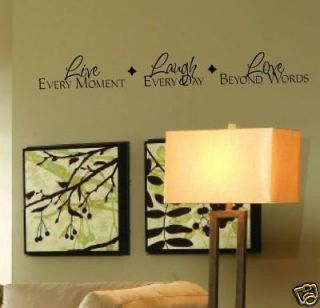 Vinyl lettering LIVE LAUGH LOVE sticker word quote wall