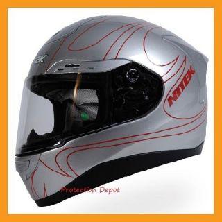 NITEK P1 FIBER GLASS MOTORCYCLE FULL FACE HELMET BLACK GOLD DOT S M L