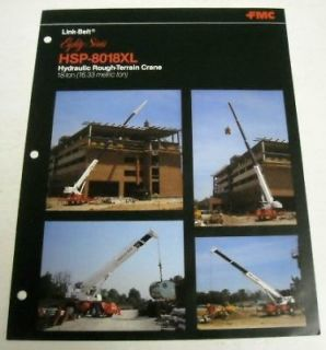 Link Belt 1985 HSP   8018XL Crane Sales Brochure