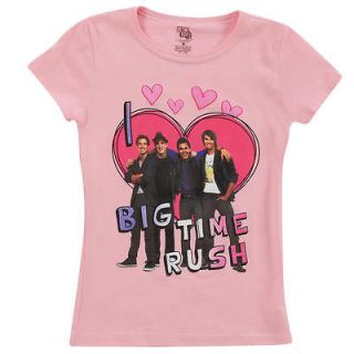 Love Big Time Rush Pink Short Sleeve T Shirt   Medium