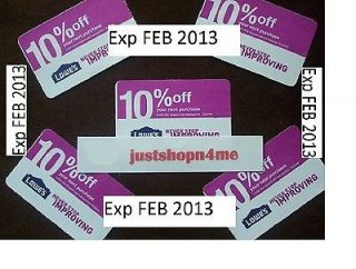 Lowes Coupons 10% Off Home Imp @ Depot Exp FEB 2013 2/15/13 NEWEST