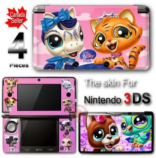 Pink Littlest Pet Shop Tiger and Horse STICKER DECAL COVER SKIN for