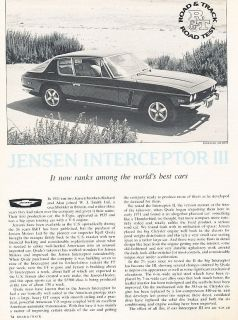 1974 Jensen Interceptor III   Road Test   Classic Article PE91