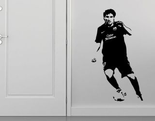Lionel Messi Barcelona Wall Art Sticker Decal Footballer La Liga Vinyl