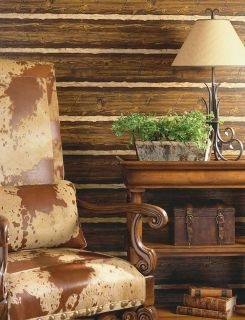 Log Cabin Wallpaper with the look of rustic logs! 41382