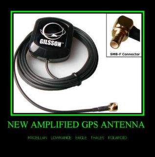 Active Marine GPS Antenna for Lowrance Global Map 1600, GlobalMap LMS