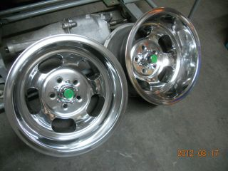 NEWLY POLISHED 15 x 10 INDY SLOT MAG WHEELS HOTROD SS MAGS CHEVY