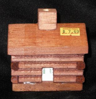 Small Log Cabin Burner with Balsam Fir Incense