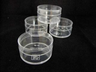 clear Plastic Round Boxes (5.2 cm diameter)for contain small items