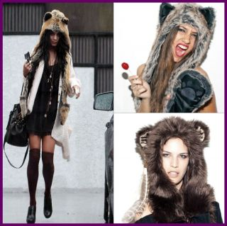 Spirit Hood Scarf Gloves Ladies Girls Faux Fur Clothes Gift Clothes