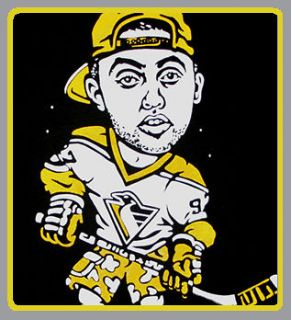 Cajmear Mac Miller Pittsburgh Penguins shirt rap stussy huf mishka hip