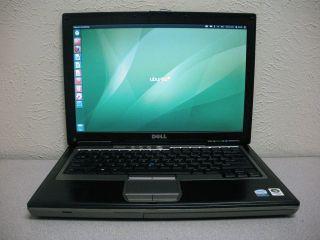 Dell Latitude D630 Laptop Core 2 Duo 1.8GHz 2.5GB 80GB Ubuntu 12 Wifi