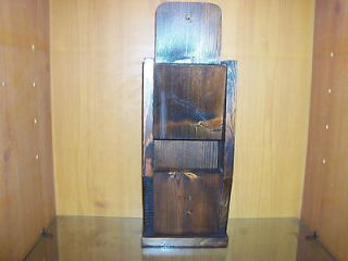 Pocket Wooden Wall / Mail Organizer Display Shelf  Stand Alone or