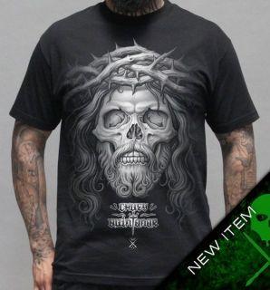 Sullen Crown of Thorns T Shirt Black clothing mens hip hop tattoo
