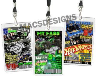 Monster Jam Truck VIP Birthday Party Invitations FAVORS