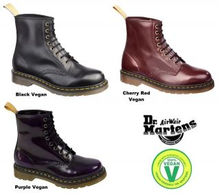 Dr Doc Martens Airwair 1460 Vegan Vegetarian Synthetic Leather Boots