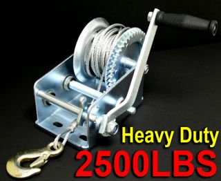 Heavy Duty 2500LB Boat Hand Winch Hand Crank Manual RV Trailer Winch