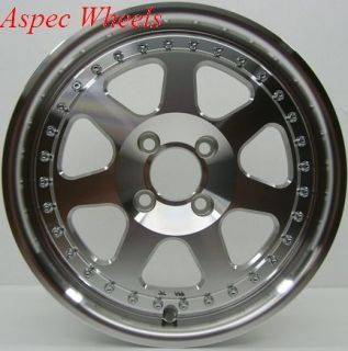15X7 ROTA J MAG RIM WHEELS 4X100 FITS 4 LUG CIVIC CRX FIT INTEGRA DEL