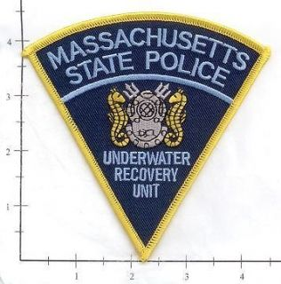 Massachusetts   Massachusetts State MA Police Dept Patch Underwater