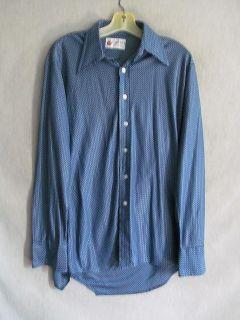 Store Dark & Light Blue Designed Light Weight Long Sleeve Mens M