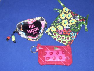 Lot of 3 Womens Victorias Secret Pink ID Case Brighton Bag Betsey