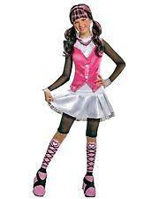 Girls Monster High Draculaura Play Costume Size L 10/12 NWT