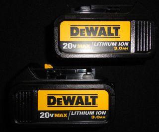 DEWALT DCB200 20V LITHIUM ION BATTERY PACKS X 2 NEW