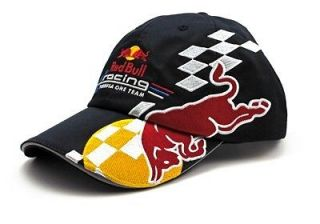 New Official Red Bull Racing Formula One F1 Team Cap Black NWT