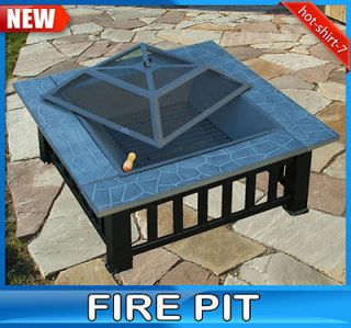 New Outdoor Metal Firepit for Patio Garden Fire Pit Cover