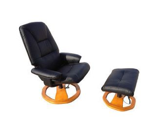 Black Office TV Theater Recliner Massage Chair With Ottoman 7901   NEW