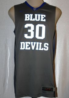 ELITE AUTHENTIC DUKE BLUE DEVIL # 30 BASKETBALL JERSEY SIZE L XL $120