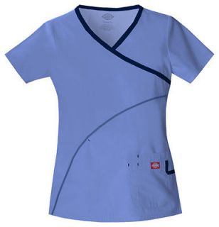 Dickies Soft Works Medical Scrubs **Solid w/Accent ** Top PICK COLOR
