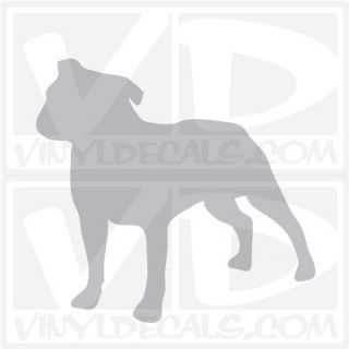 Staffordshire Bull Terrier Dog Vinyl Decal Sticker Car Window Wall