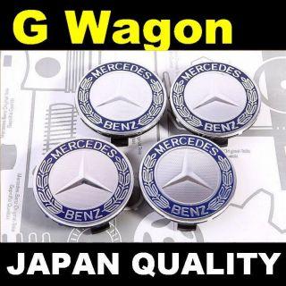 x4 Mercedes Benz Blue Logo Alloy wheel center caps G WAGON G500 G55