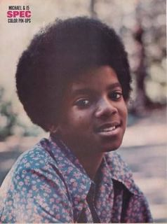 MICHAEL JACKSON MINI POSTER 1971 Pin Up THE JACKSON FIVE 5 Full Page